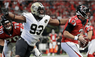 New Orleans Saints defensive lineman Busted For Weed