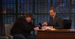 Michael Moore Tells Seth Myers He Wants US Post To Too Deliver 2 Joints A Week To Every Household In America