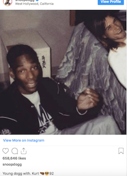 Even Snoop Fooled By Doctored FB Photo Showing Him Have A Smoke With Kurt Cobain