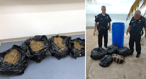 Plastic barrel with 90 pounds of weed inside washes ashore in Florida Keys