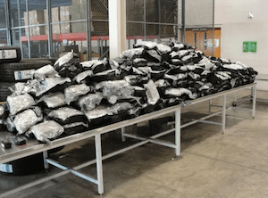 Detroit border officials say Canadian trash truck carried 418 pounds of pot