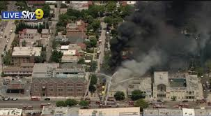 Los Angeles: Fire Crews Fight Fire  At Former Pico-Robertson Synagogue/Illegal Marijuana Grow