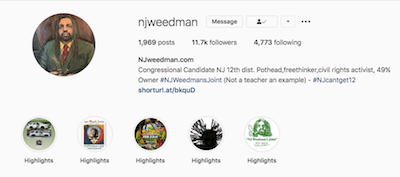 "Veteran Marijuana Activist Ed Forchion aka NJWeedman Launches ""Get on the CannaBus,"" A New Instagram Live Series to Highlight His Ongoing Acts of Civil Disobedience and Protest in New Jersey"