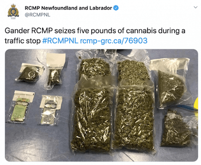 Canadian teens had 75 times more weed in their vehicle than the legal limit