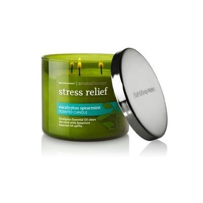 Bath & Body Works, Aromatherapy Stress Relief 3-Wick Candle, Eucalyptus Spearmint-5 Best Candles