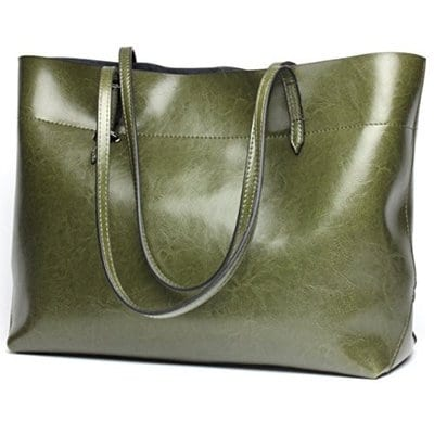 Covelin Women's Handbag Genuine Leather Tote Shoulder Bags Soft-5 Best Handbags