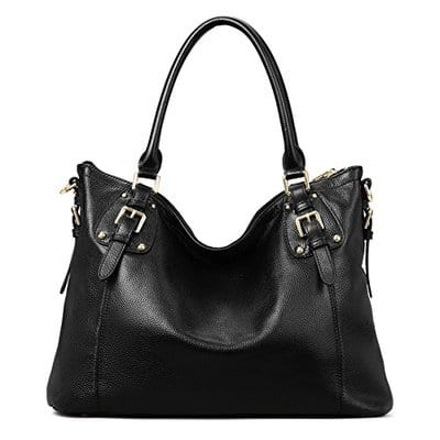 Kattee Women's Vintage Genuine Leather Tote Shoulder Bag-5 Best Handbags