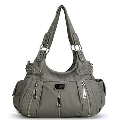 Scarleton 3 Front Zipper Washed Shoulder Bag-5 Best Handbags