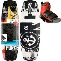Liquid Force Witness Grind Wakeboard 140 w/ Domain Bindings Mens Sz 8-12