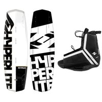 New 2017 Hyperlite Wakeboard Agent with Hyperlite Agent Bindings Fits Most Shoe Sizes