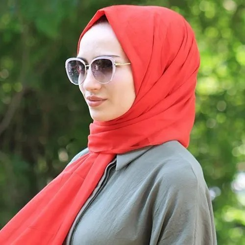 orange cotton hijab