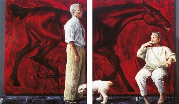 Maltese Terrier in Dogs in Australian Art by Steven Miller