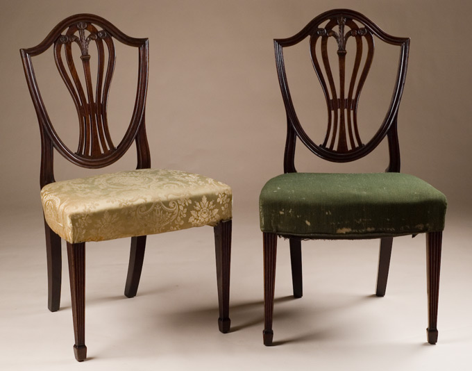 antique commode chair office max hardwood floor mat pair of hepplewhite chairs