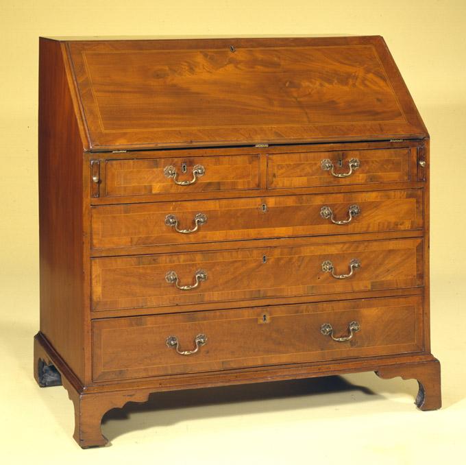 English Slant Front Antique Desk