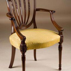 Home Desk Chairs Porch Chair Cushions Custom Made Hepplewhite Style Armchair
