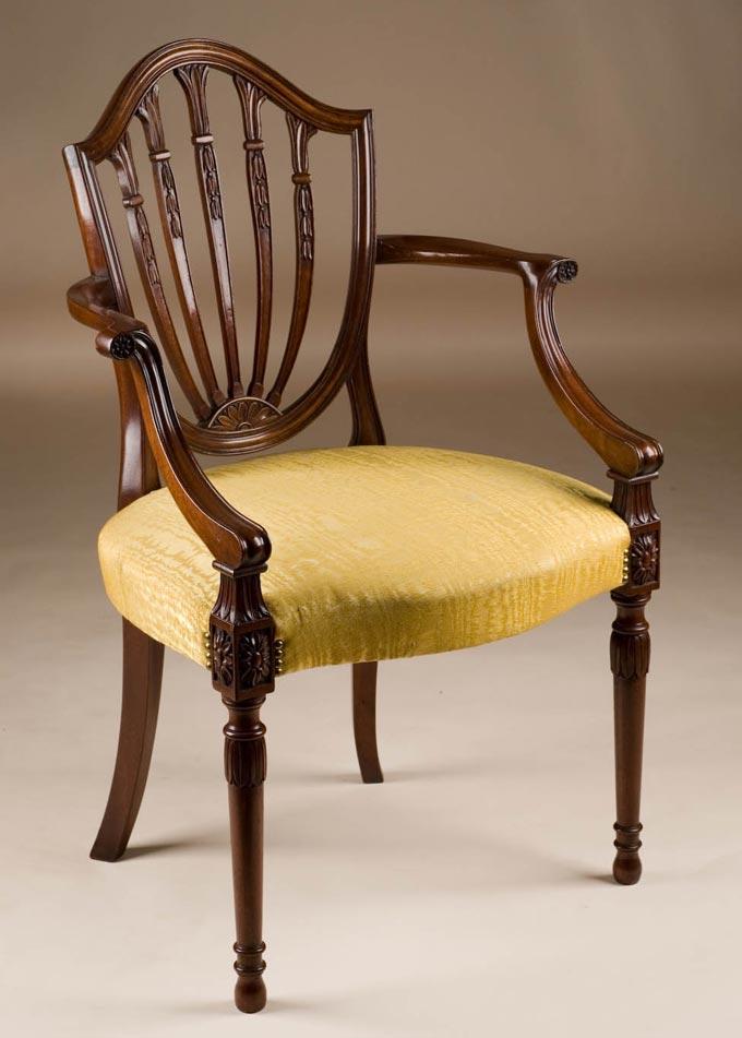 desk chair made bloom fresco high custom hepplewhite style armchair