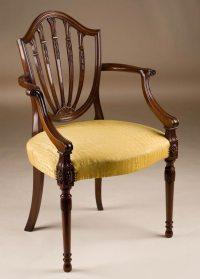 Custom Made Hepplewhite Style Armchair