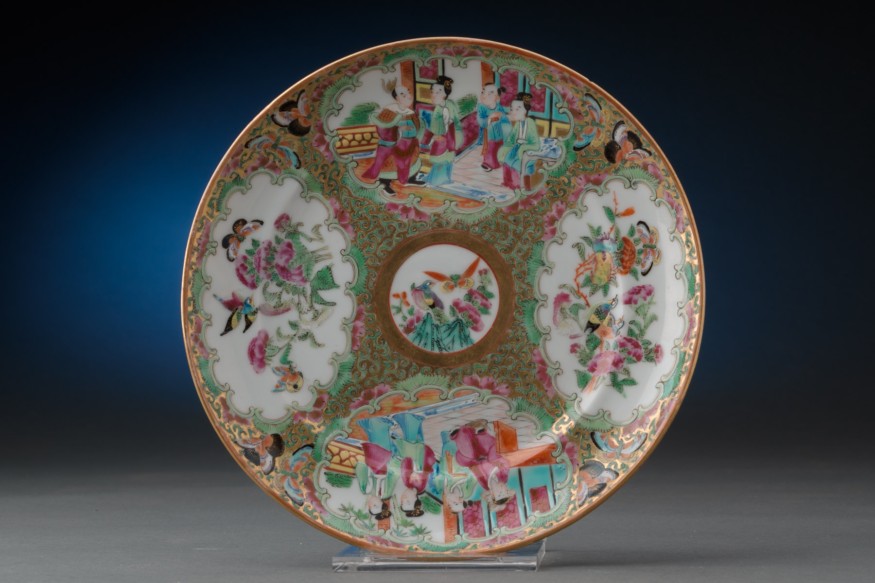19th Century Rose Medallion Plate