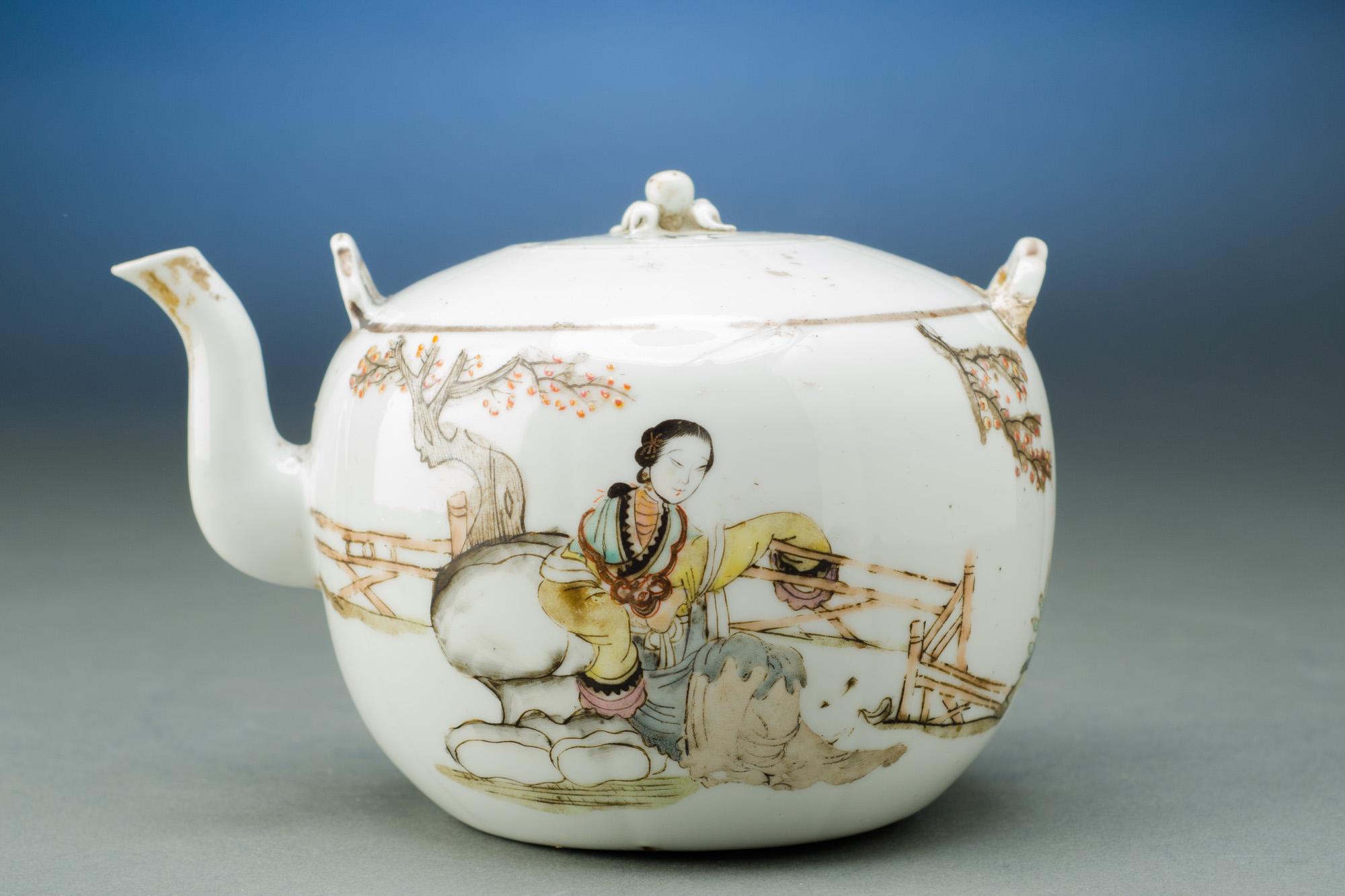 Antique Famille Teapot