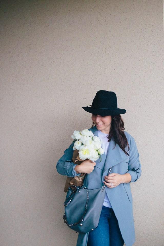 Gray Days - Waketon Road Blog: Chicwish Trench coat, Hunter Boots, Valentino Bag