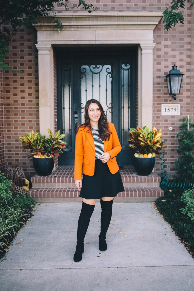 Orange Blazer for Halloween - Waketon Road Blog