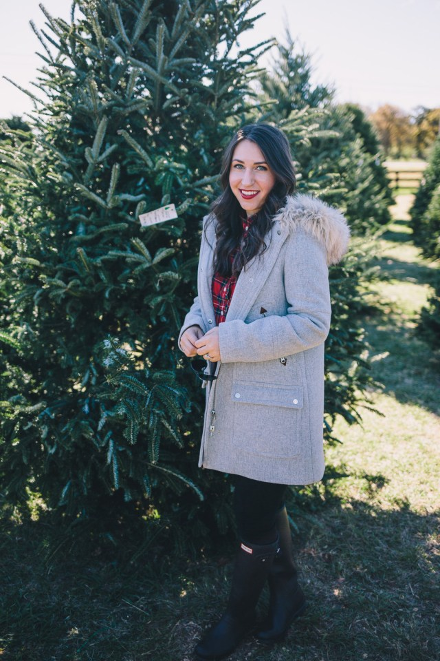 Christmas Traditions at the Tree Farm on Waketon Road Blog wearing J.Crew