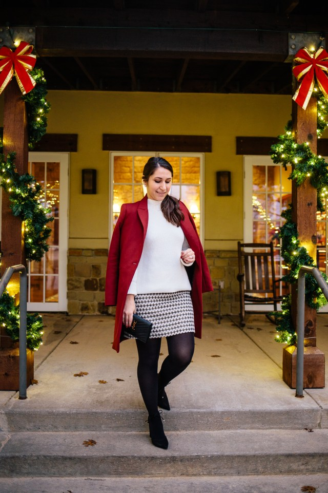 Christmas Dressy on Waketon Road wearing Loft