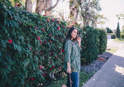 Coronado Blooms on Waketon Road wearing Banana Republic Utility Jacket
