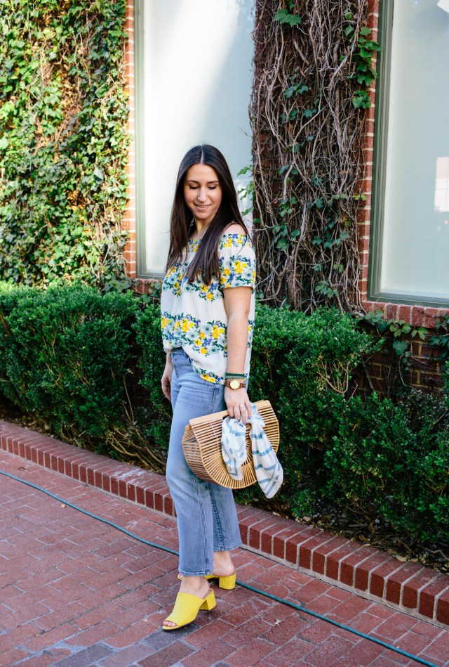 Spring in Sundance Square - Waketon Road Blog wearing Old Navy top