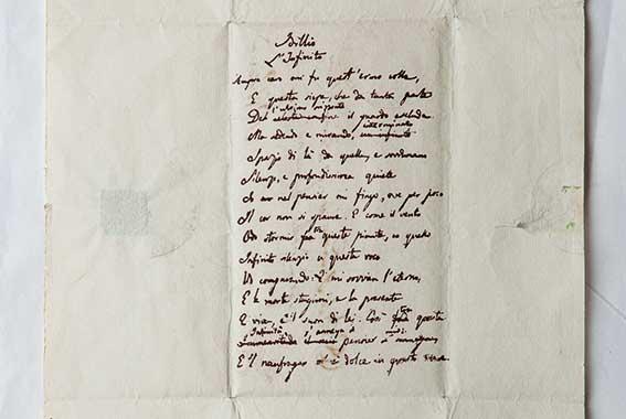 Allasta manoscritto di Giacomo Leopardi La regione Marche non ci sta