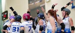 Roller derby team cheer