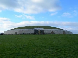 The ancient temple of Newgrange in Ireland. The inner chamber aligns to the winter solstice, the date of Christ's birth and has its central passage laid out in a cruciform shape, thousands of years before the life of Jesus (photo copyright Shira)