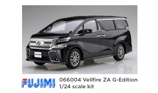 fujima 066004 vellfire plastic model - feature