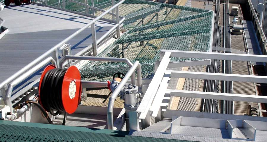 Chain Link Helideck Safety Net for Offshore and Rooftop Helicopter Deck