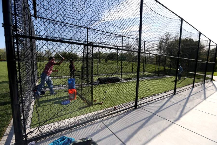 Chain Link Cricket Net Fence Created for Ball Stop in the Cricket Pitch