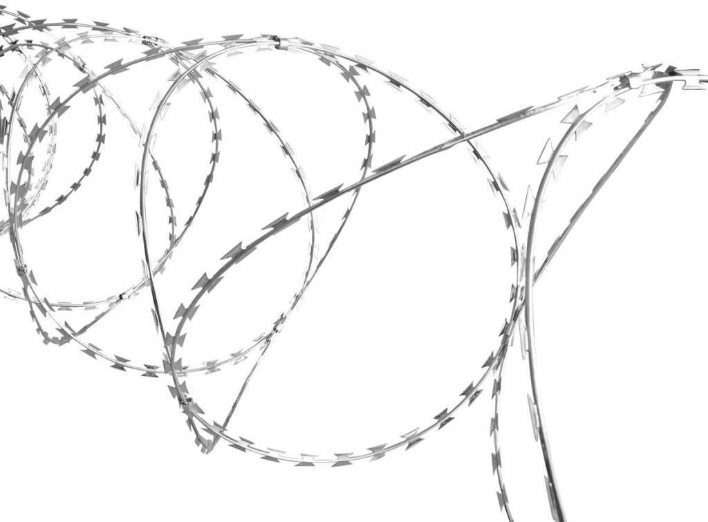 Concertina Wire Prevents Access to Site from Unwanted Persons