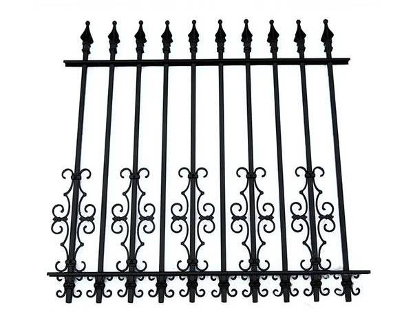 Patterned Wrought Iron Fence Better for Used in Villa
