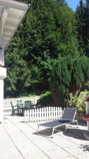 Terrasse Ferienwohnung Wald Kobel