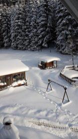 Schnee Ferienwohnung Wald Kobel