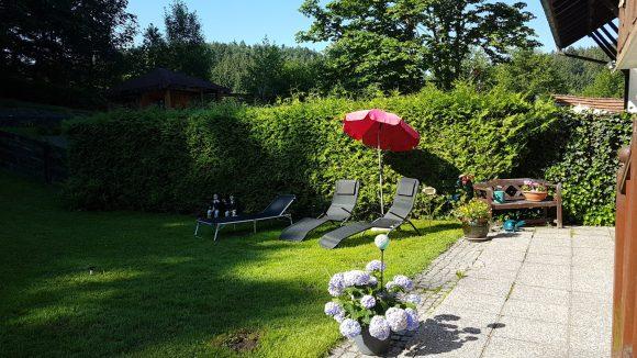 Garten Ferienwohnung Wald Kobel