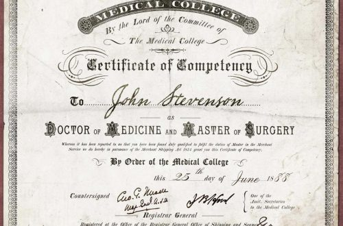 A prop certificate featuring borders, ornaments, and fonts from the New Victorian Printshop