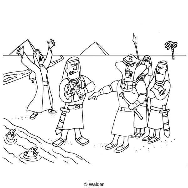 Egypt Israelite Slaves Coloring Page Sketch Coloring Page