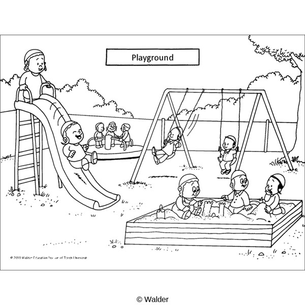 Coloring Pages For Preschool Playground. Coloring. Best