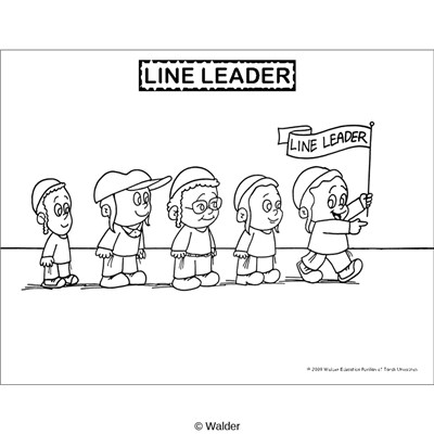 Line Leader Coloring Page Coloring Pages