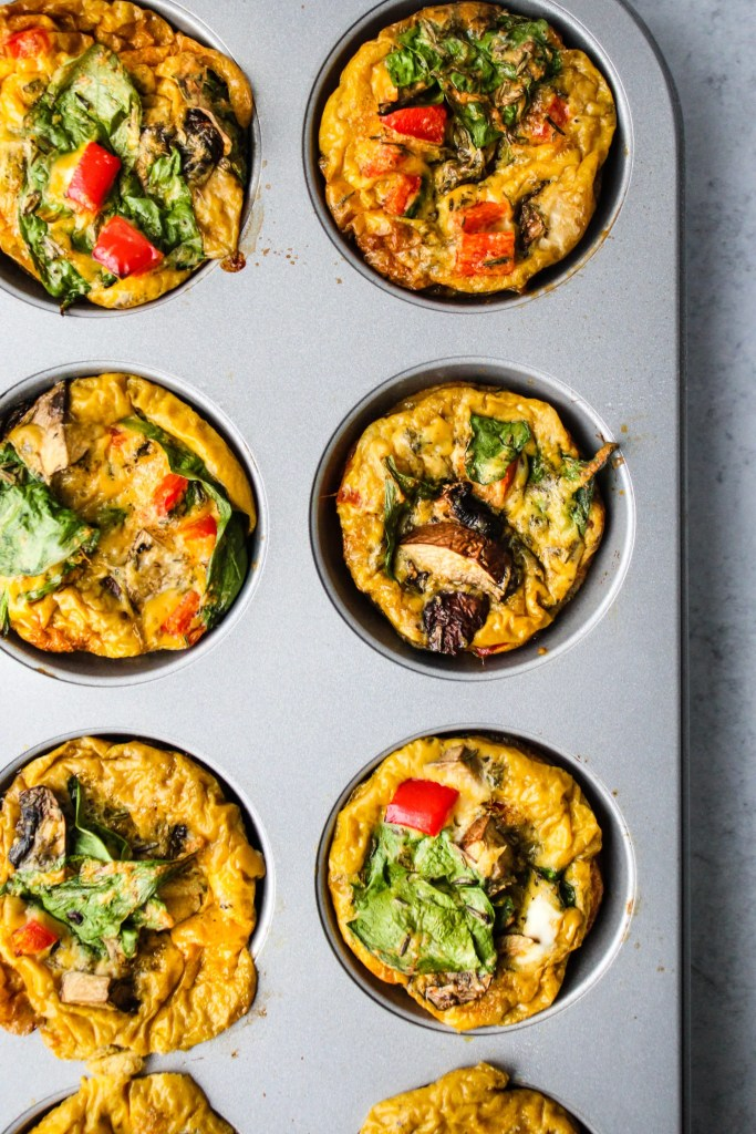 breakfast egg muffins in muffin tray
