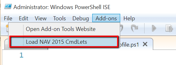 Load Dynamics NAV CmdLets in PowerShell ISE with Profiles