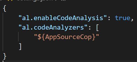 """al. enableCodeAna1ysis"" :  ""al. codeAna1yzers"" :  true,"