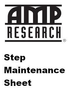 AMP Step Maintenance Sheet
