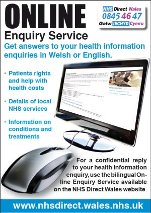 Health in Wales  NHS Direct Wales online enquiry service