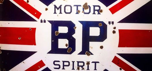 BP Motor Spirit Sign at the Bearded Man